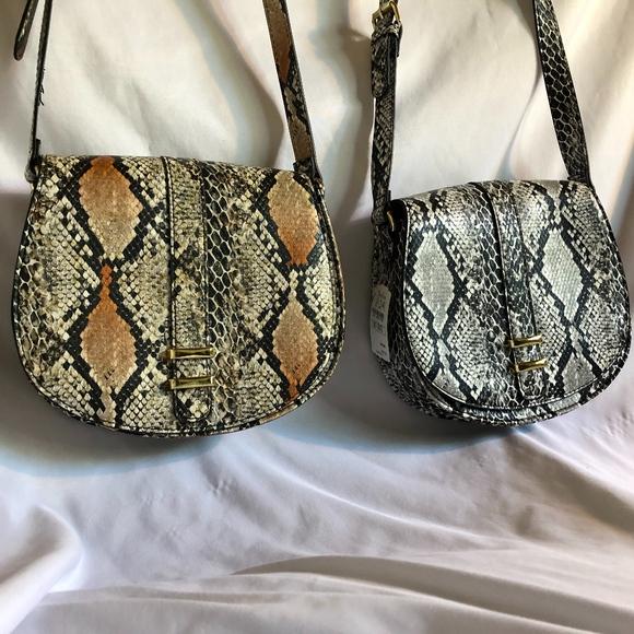 Neiman Marcus Handbags - 2 NM Faux Leather Python Crossbody Bags